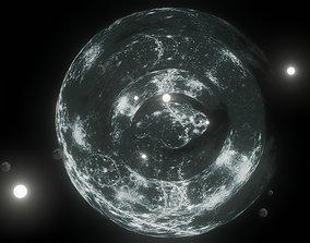 3D asset Celestial sky - magic spheres harmony