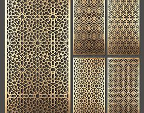 Decorative panel set 34 3D model