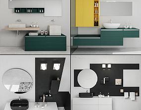 Bathroom furniture collection 6 3D model