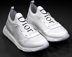 3D model Dior B21 white shoes