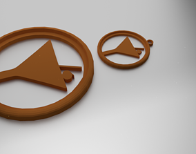 3D printable model Glass Coaster Wine Glass and pendant