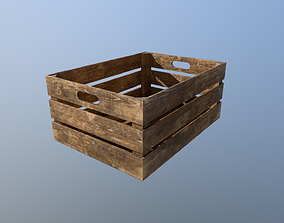 3D model VR / AR ready Wooden crate