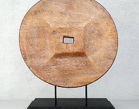 3D model Rustic Ox Cart Wooden Wheel