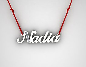 Name Nadia 3D print model