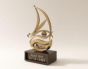 3D model trophy Nile Boat Golden Trophy