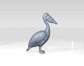 3D Pelican Low Poligonal