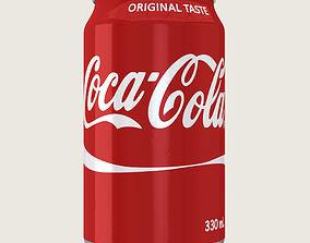 3D asset Coca Cola Drink Aluminium Can