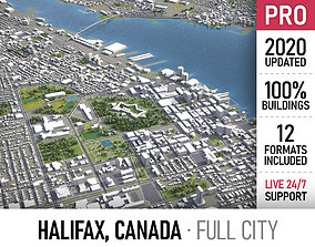 3D asset Halifax - city and surroundings