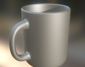 3D model drinking Coffee Cup High Poly Version