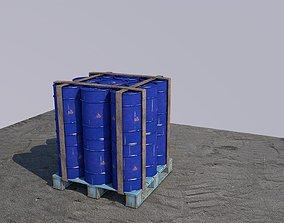 3D model pallet barrel