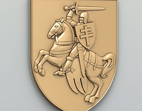 Coat of arms of Belarus Pogonya - type A 3D