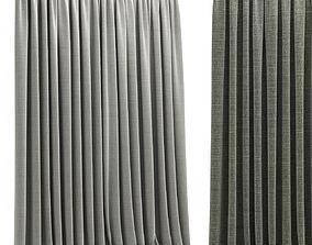 3D asset Modern curtain 2