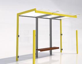 3D model MMCite 310a Bus Shelter