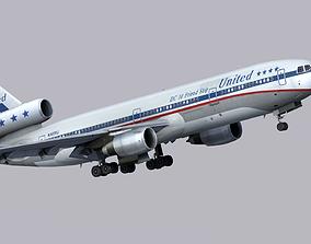 McDonnell Douglas DC-10 United Airlines 3D model
