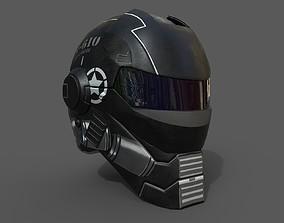 Helmet military Scifi low poly combat 3D model realtime