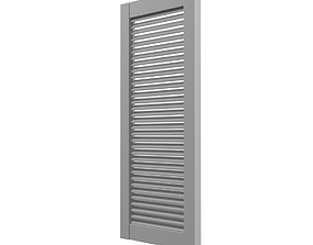 louver window persiana blind low poly 3D asset