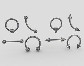 Piercings Pack 3D model