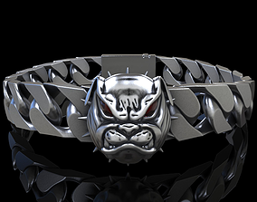 Angry Bulldog bracelet 3D printable model
