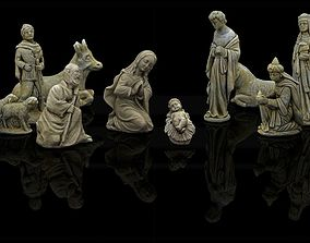 Christmas nativity figurines Set 3D Printable 3D