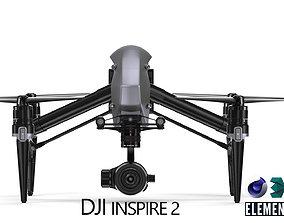 rigged DJI Inspire 2 - Element 3D