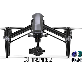 rigged DJI Inspire 2 - Element 3D