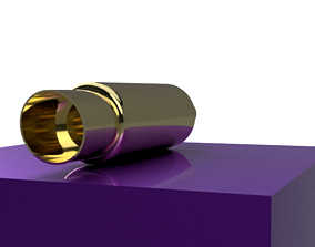 EXHAUST JDM 4IN DIA SLANT 3D asset