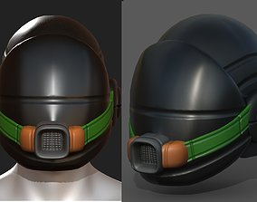 Gas mask helmet scifi fantasy armor 3D model 1