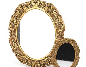 Antique Frame Mirror 3 3D model