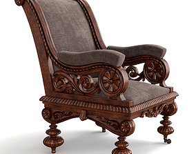 Carved armchair 3D living
