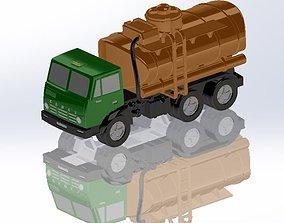 KamAZ fuel truck 3D printable model
