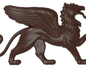 3D printable model Griffin bas relief