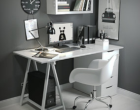 3D Work Desk Scandinavian