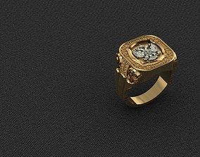 3D printable model Ring-Coat-Eagle