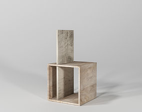Two Function Easy Simple Square Chair 3D