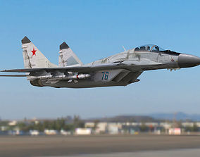 3D asset Mig 29 Fulcrum Russian Airforce military aircraft