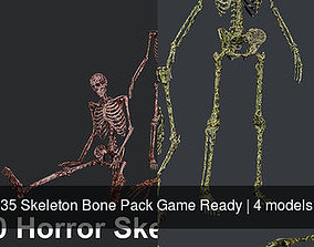 35 Skeleton Bone Pack Game Ready 3D model