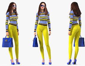 3D model Teenage Girl Fashionable Style