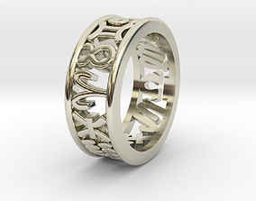 3D printable model 59size Constellation symbol ring