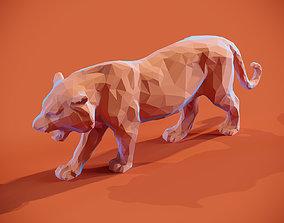 3D printable model Low poly Tiger Papercraft