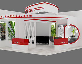 3D model exhibition stand 09