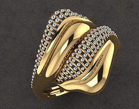 3D print model fashion diamond Rings