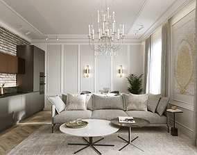 family Luxury apartment 3D model