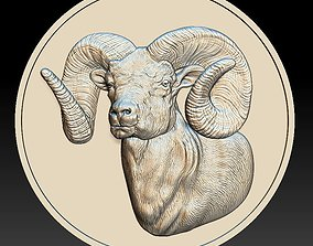 3D printable model dollar Ram Coin - relief - 2020