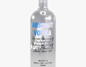 3D asset Absolut Vodka