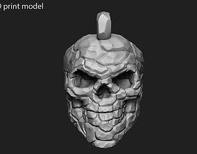 3D print model Skull Rock Pendant vol 1