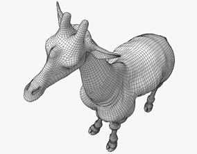 3D asset Giraffe Lowpoly