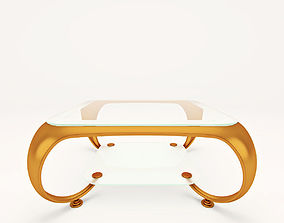 Golden Coffee Table 3D