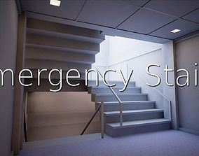 3D asset Emergency Stairs SHC Quick Office LM
