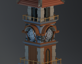 game-ready Medieval Tower 3D