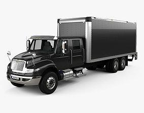 3D International Durastar Crew Cab Box Truck 2017
